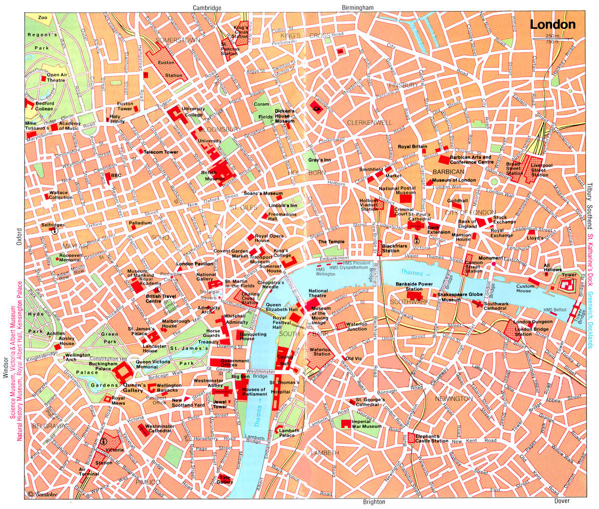 Cartina Monumenti Londra Pdf.Mappa Turistica Di Londra